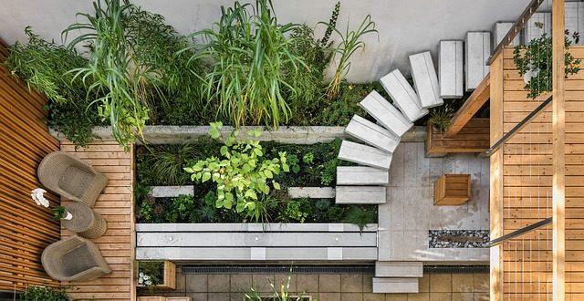 Osez les teintes sobres, créez un jardin moderne